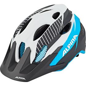 Alpina Carapax Cykelhjelm Unge, white-black blue